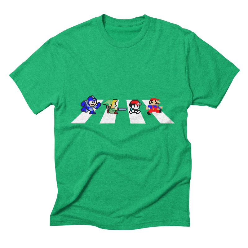 8bit road Men's Triblend T-shirt by Andrew's Fantastic World Shop