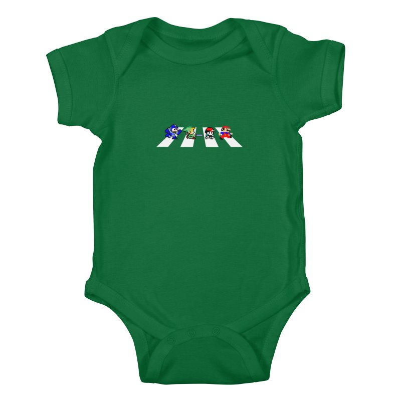 8bit road Kids Baby Bodysuit by Andrew's Fantastic World Shop