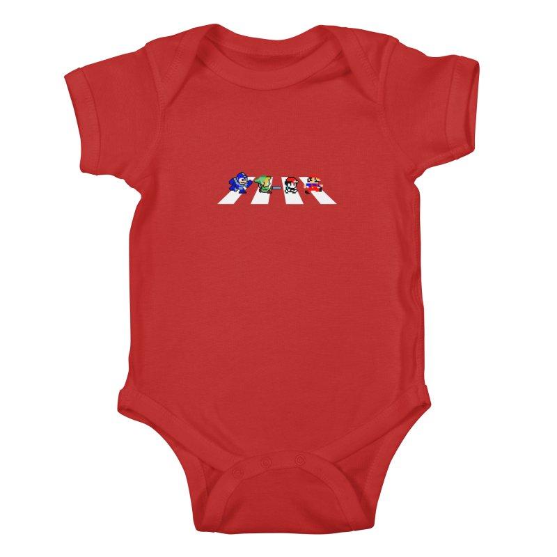 8bit road Kids Baby Bodysuit by Andrew's Fantastic World Shop