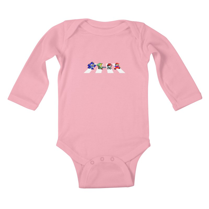 8bit road Kids Baby Longsleeve Bodysuit by Andrew's Fantastic World Shop