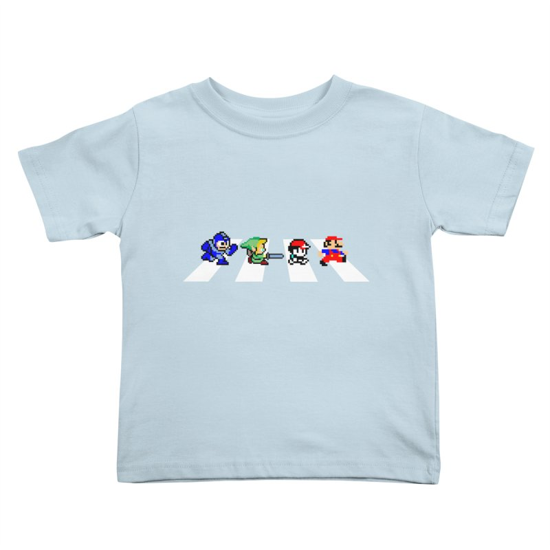 8bit road Kids Toddler T-Shirt by Andrew's Fantastic World Shop