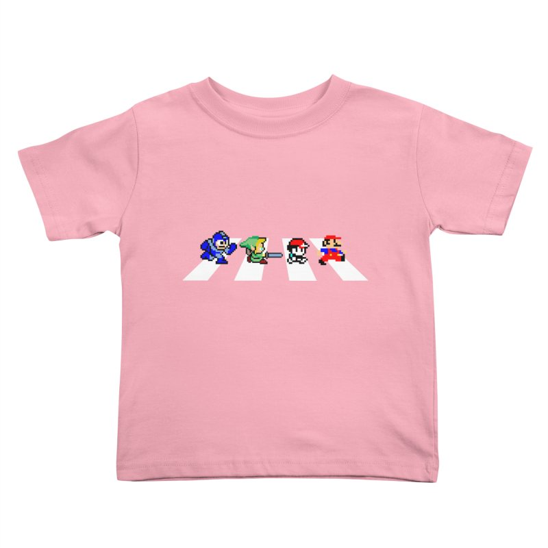 8bit road Kids Toddler T-Shirt by Andrew's Fantastic World Shop