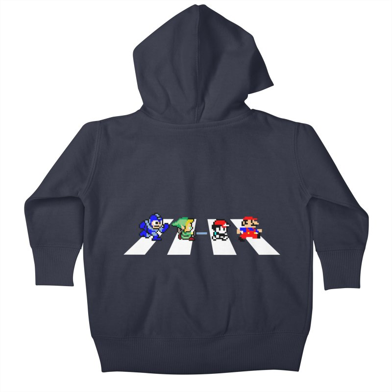 8bit road Kids Baby Zip-Up Hoody by Andrew's Fantastic World Shop