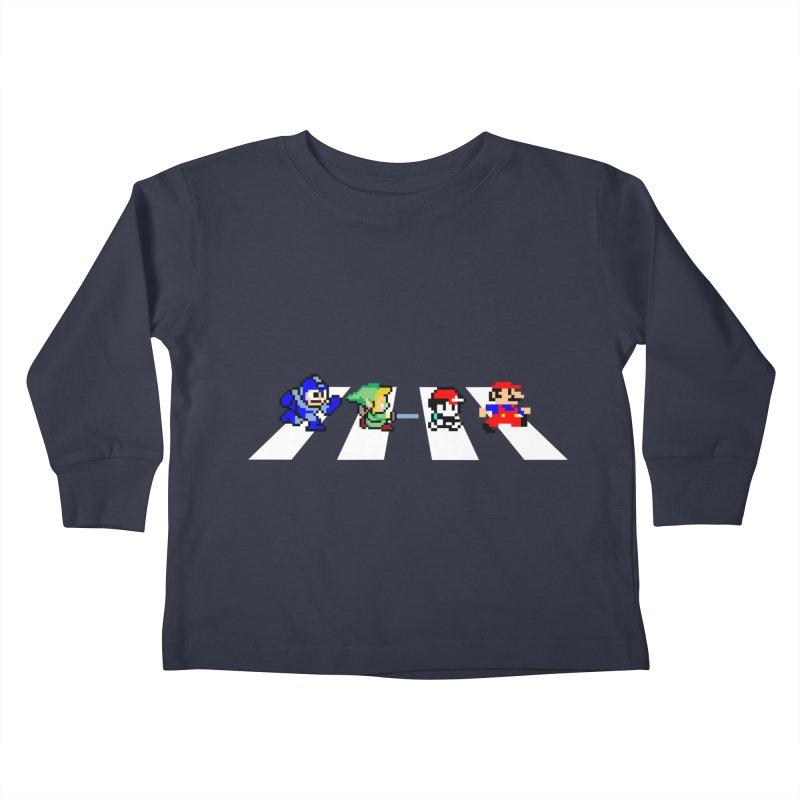 8bit road Kids Toddler Longsleeve T-Shirt by Andrew's Fantastic World Shop
