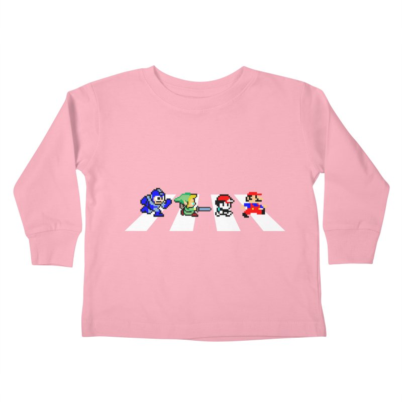 8bit road Kids Toddler Longsleeve T-Shirt by Andrew's Fantastic World Shop
