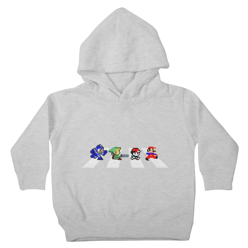 8bit road Kids Toddler Pullover Hoody by Andrew's Fantastic World Shop