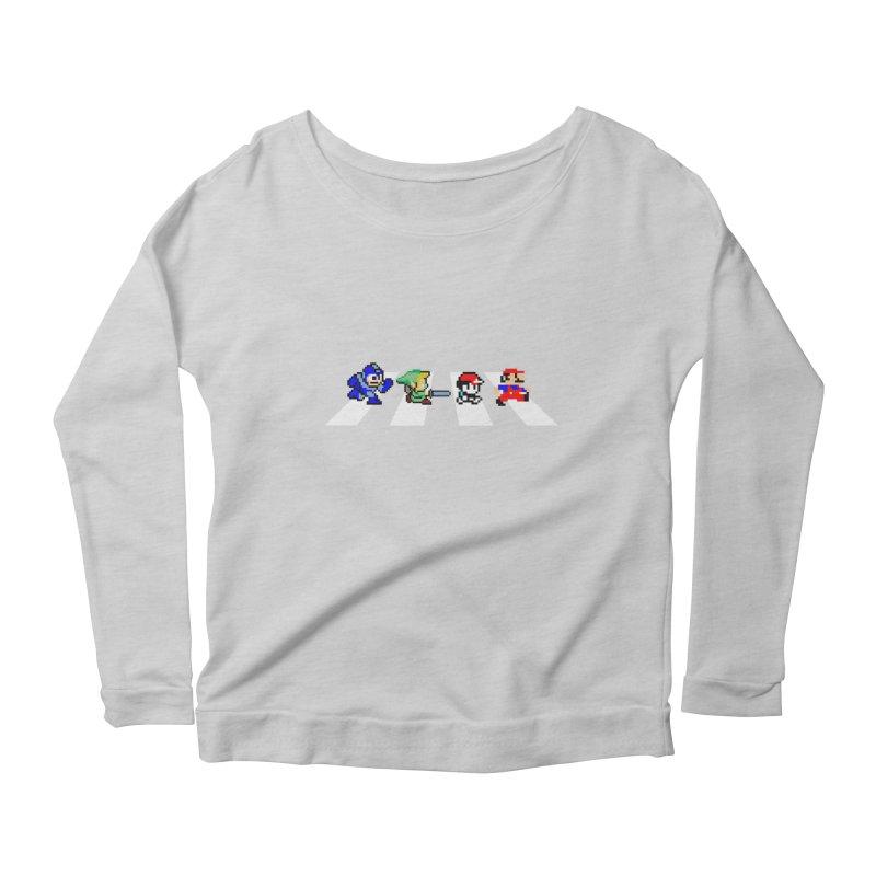 8bit road Women's Scoop Neck Longsleeve T-Shirt by Andrew's Fantastic World Shop