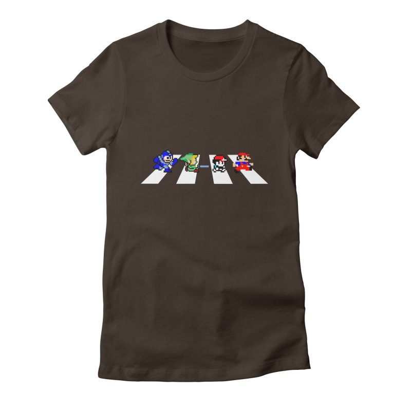 8bit road Women's Fitted T-Shirt by Andrew's Fantastic World Shop