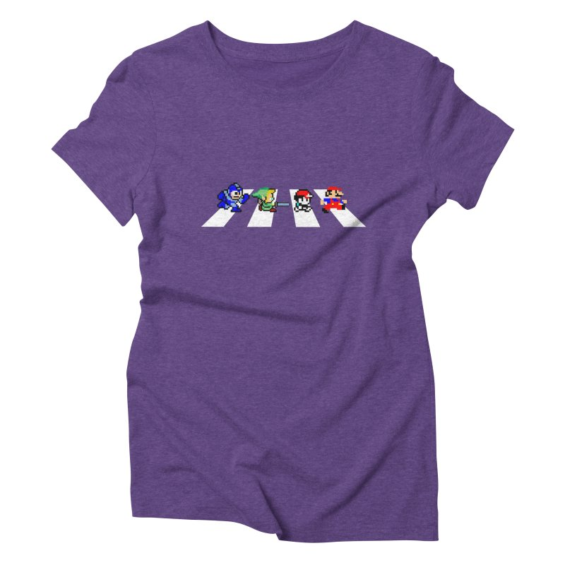 8bit road Women's Triblend T-Shirt by Andrew's Fantastic World Shop