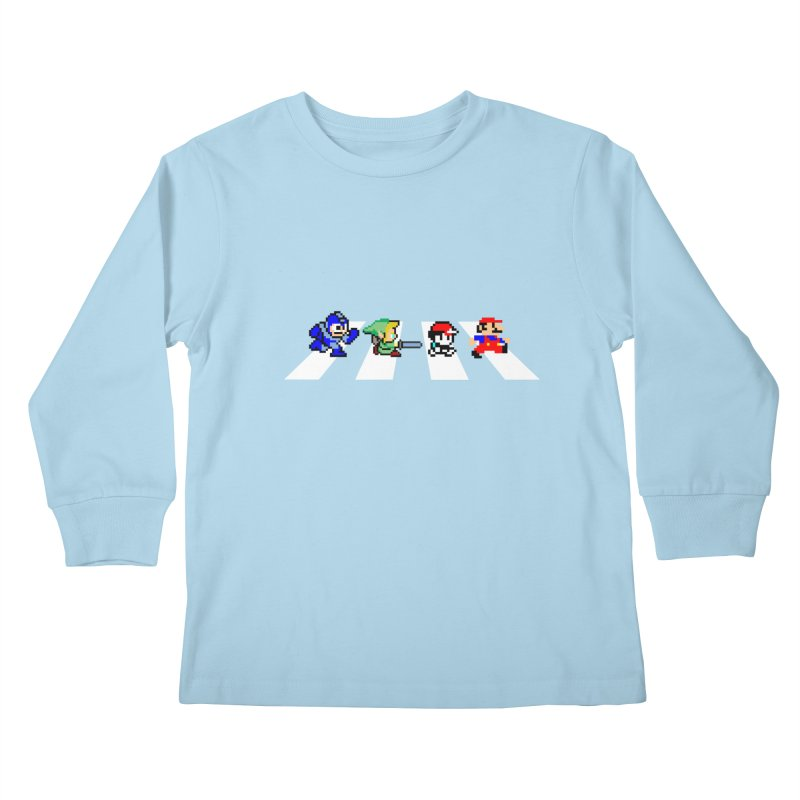 8bit road Kids Longsleeve T-Shirt by Andrew's Fantastic World Shop
