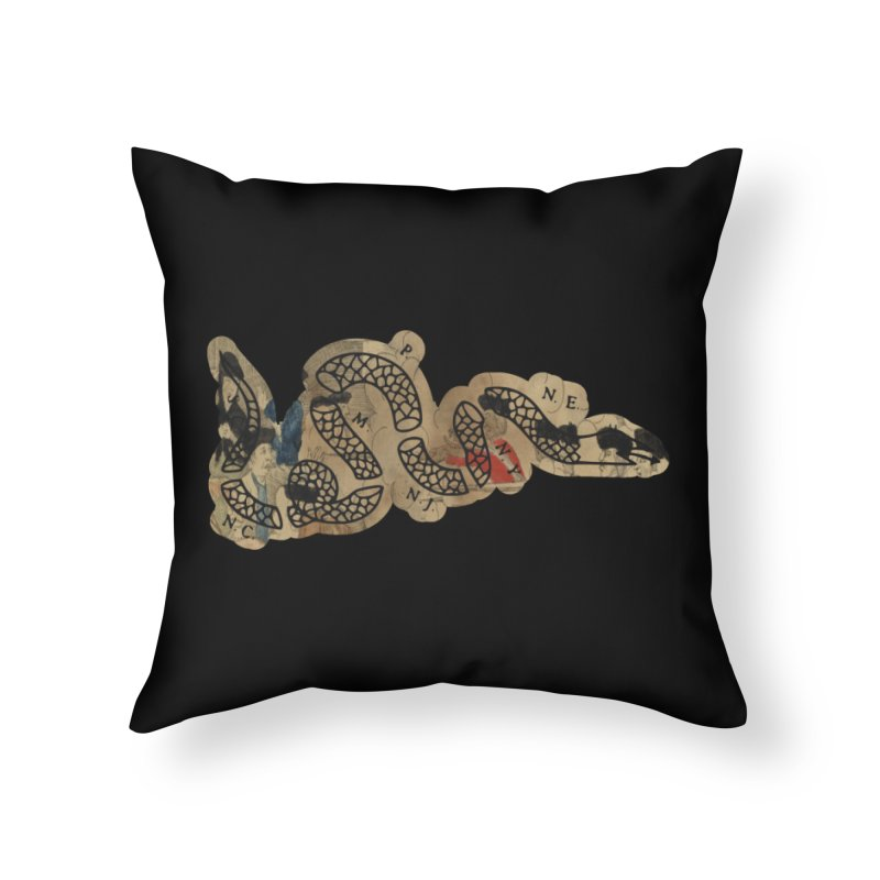Join or Die Boston Massacre Home Throw Pillow by Andrew Cotten's Artist Shop