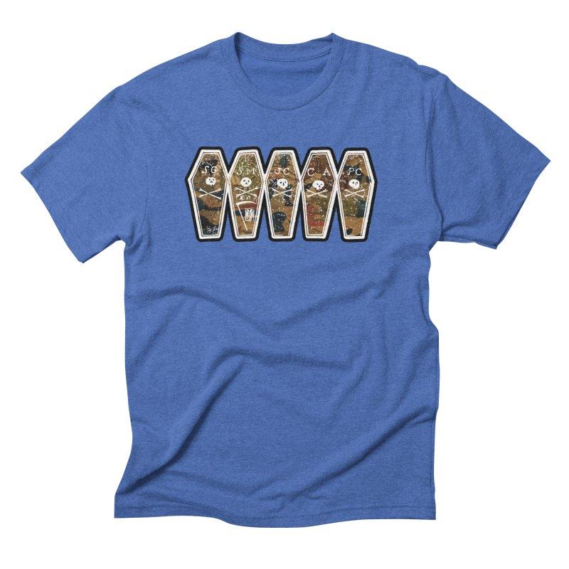 Boston Massacre Coffins on Boston Massacre Engraving, Victims Men's T-Shirt by Andrew Cotten's Artist Shop