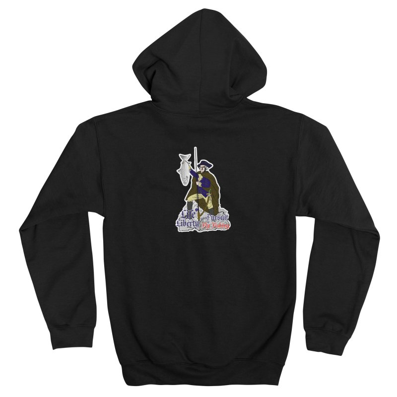 George Washington Life Liberty and the Pursuit of Fly Fishing Women's Zip-Up Hoody by Andrew Cotten's Artist Shop