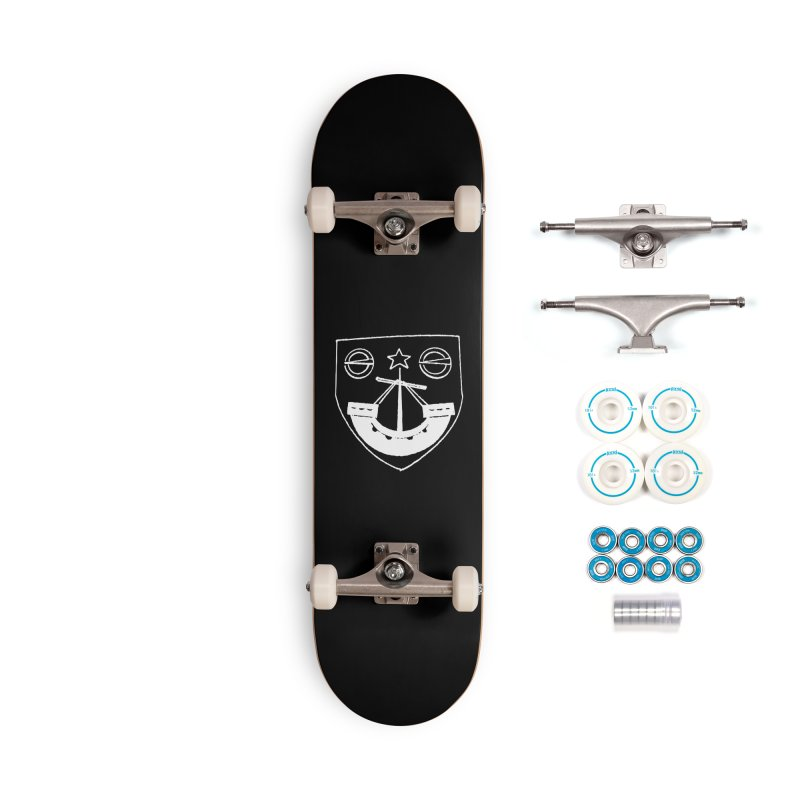 Gunn Clan Shield White Accessories Skateboard by Andrew Cotten's Artist Shop