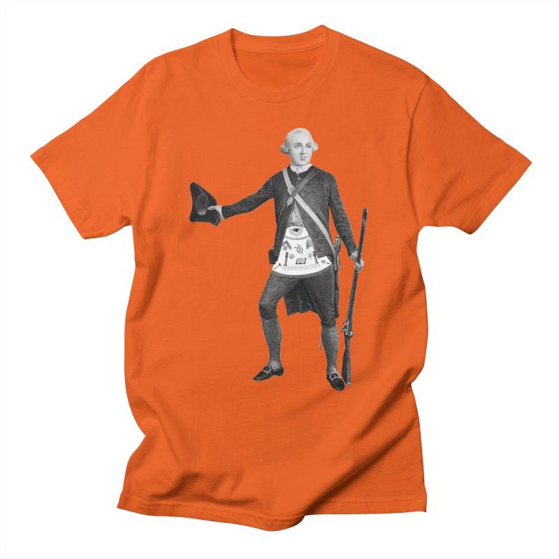 Joseph Warren Freemason Men's T-Shirt by Andrew Cotten's Artist Shop