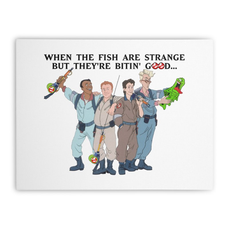Something Strange Fishing Home Stretched Canvas by Andrew Cotten's Artist Shop