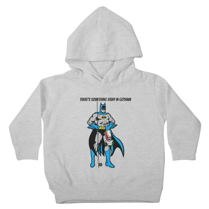 There's Something Fishy in Gotham T-Shirt Kids Toddler Pullover Hoody by Andrew Cotten's Artist Shop