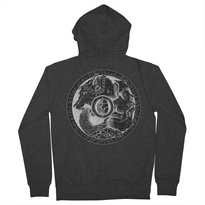 Scarabs Comic logo Men's French Terry Zip-Up Hoody by Andrew Dorland's Shop of Wonderful Things