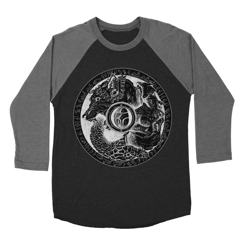 Scarabs Comic logo Men's Baseball Triblend Longsleeve T-Shirt by Andrew Dorland's Shop of Wonderful Things
