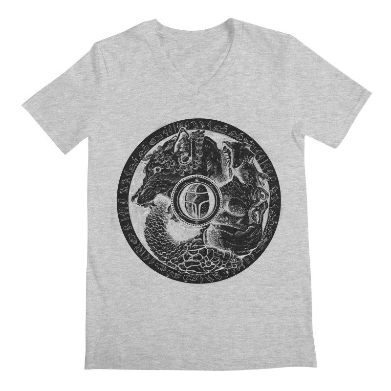 Scarabs Comic logo Men's Regular V-Neck by Andrew Dorland's Shop of Wonderful Things