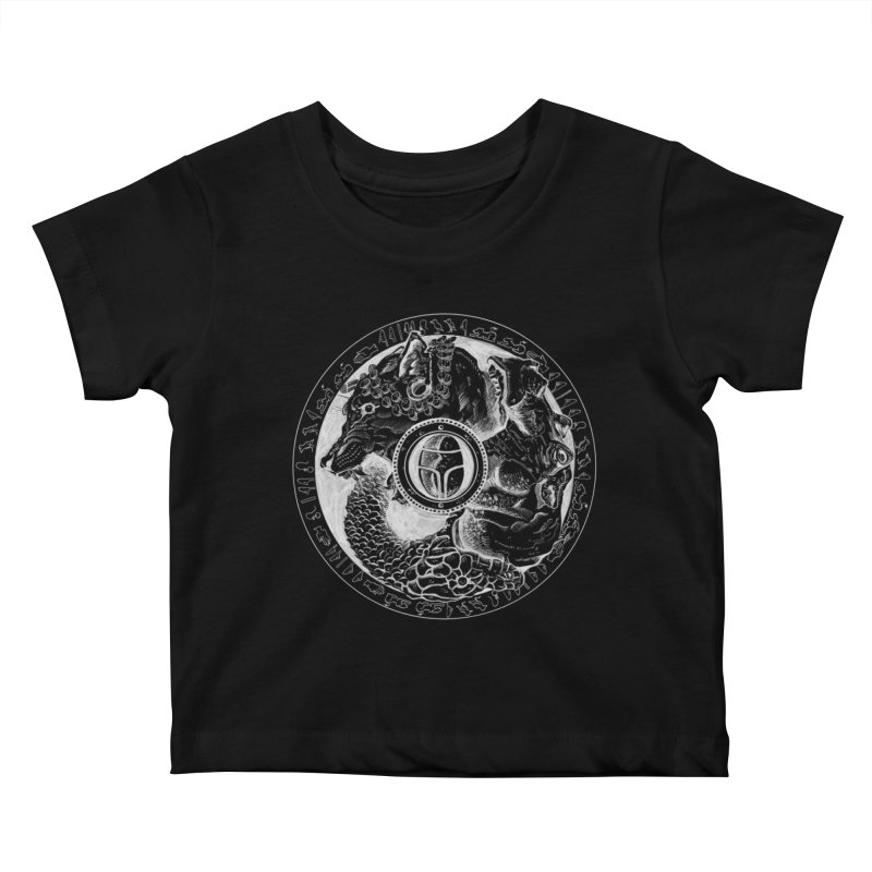 Scarabs Comic logo Kids Baby T-Shirt by Andrew Dorland's Shop of Wonderful Things