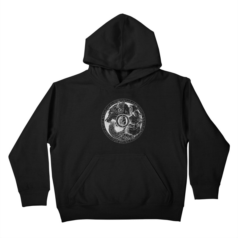 Scarabs Comic logo Kids Pullover Hoody by Andrew Dorland's Shop of Wonderful Things
