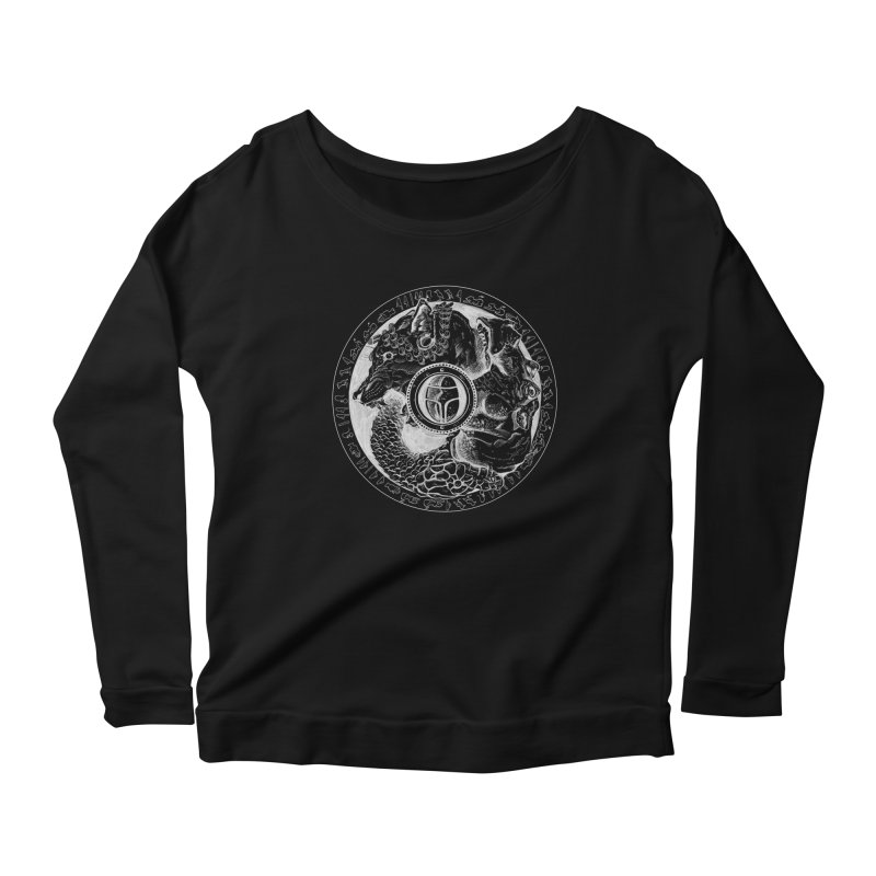 Scarabs Comic logo Women's Scoop Neck Longsleeve T-Shirt by Andrew Dorland's Shop of Wonderful Things