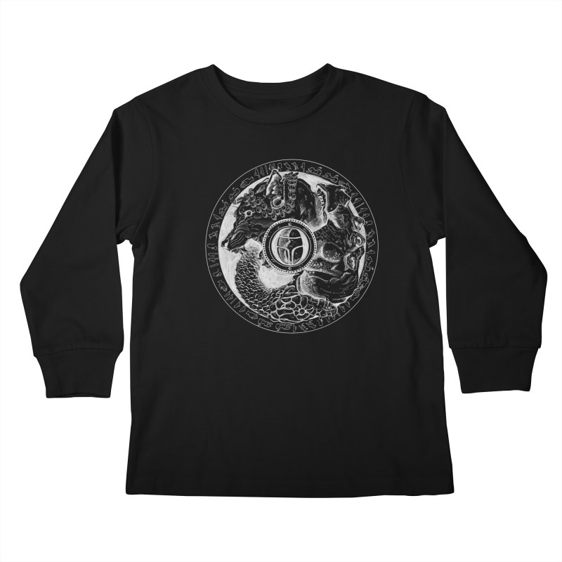 Scarabs Comic logo Kids Longsleeve T-Shirt by Andrew Dorland's Shop of Wonderful Things