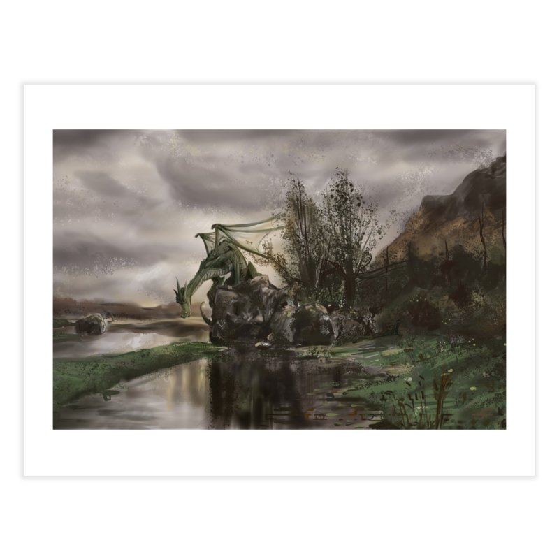 Swamp Dragon Home Fine Art Print by Andrew Dorland's Shop of Wonderful Things