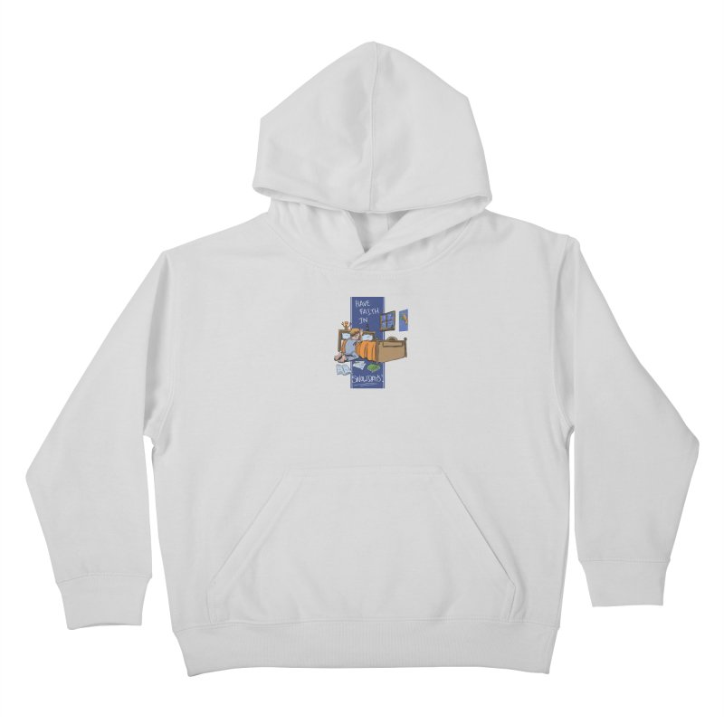 Have Faith in Snowdays Kids Pullover Hoody by Andrew Dorland's Shop of Wonderful Things
