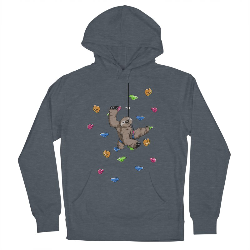 The Climber Men's French Terry Pullover Hoody by andrewedwards's Artist Shop