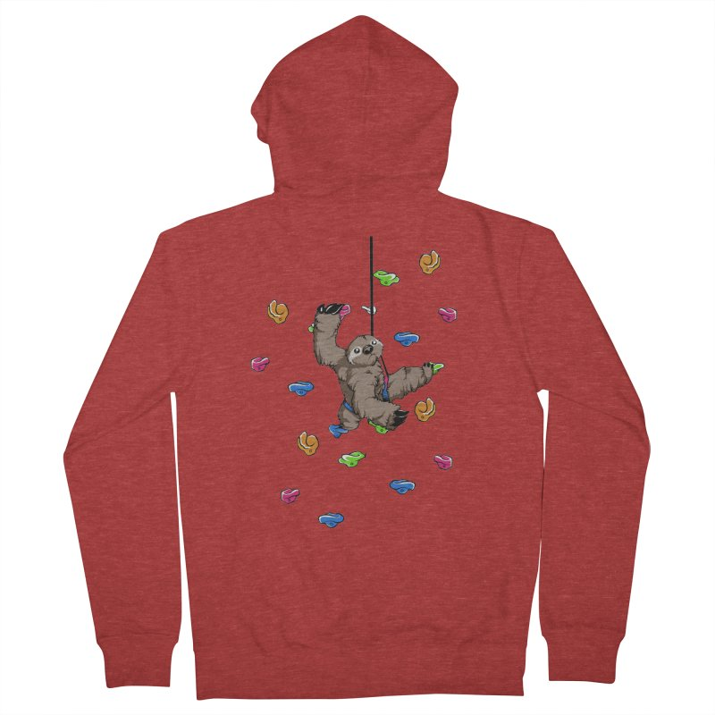 The Climber Men's French Terry Zip-Up Hoody by andrewedwards's Artist Shop