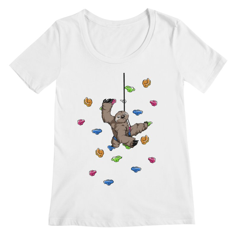 The Climber Women's Regular Scoop Neck by andrewedwards's Artist Shop