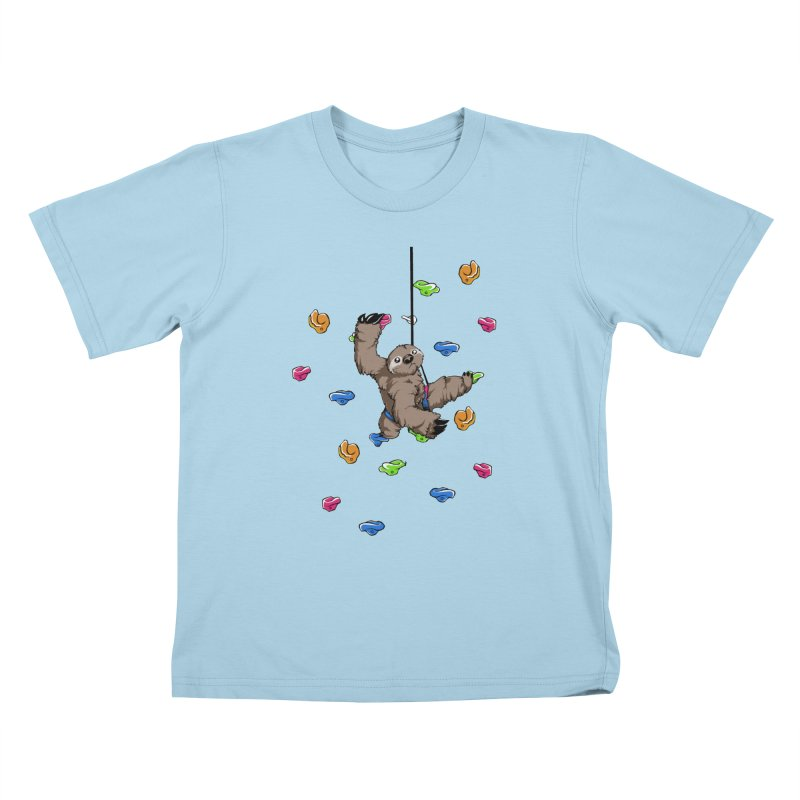 The Climber Kids T-Shirt by andrewedwards's Artist Shop