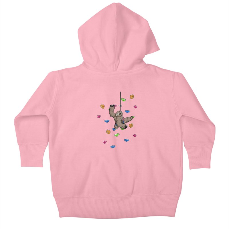 The Climber Kids Baby Zip-Up Hoody by andrewedwards's Artist Shop