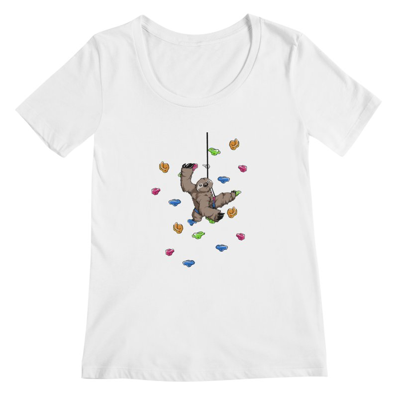 The Climber Women's Scoopneck by andrewedwards's Artist Shop