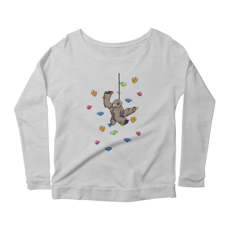 The Climber Women's Scoop Neck Longsleeve T-Shirt by andrewedwards's Artist Shop