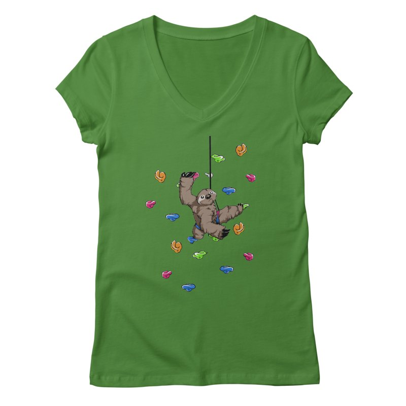 The Climber Women's V-Neck by andrewedwards's Artist Shop