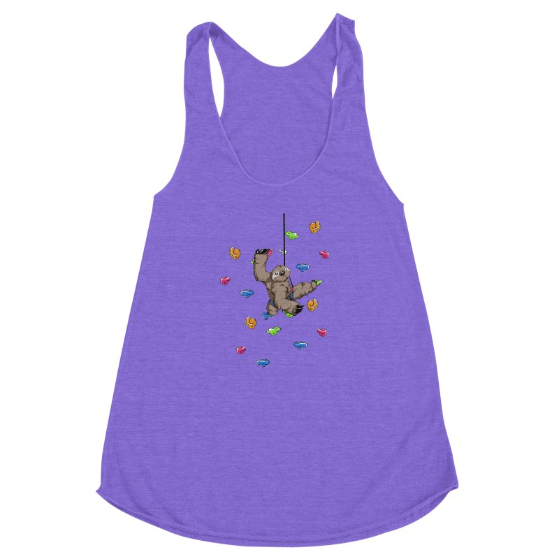 The Climber Women's Racerback Triblend Tank by andrewedwards's Artist Shop