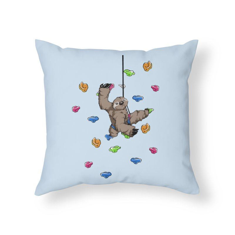 The Climber Home Throw Pillow by andrewedwards's Artist Shop