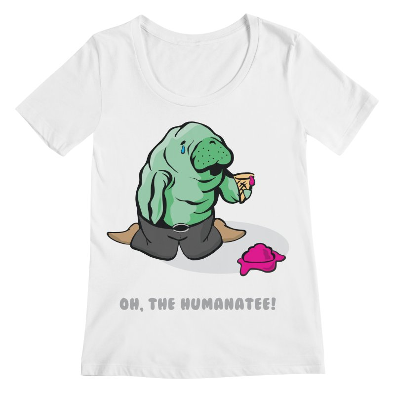 The Humanatee Women's Regular Scoop Neck by andrewedwards's Artist Shop