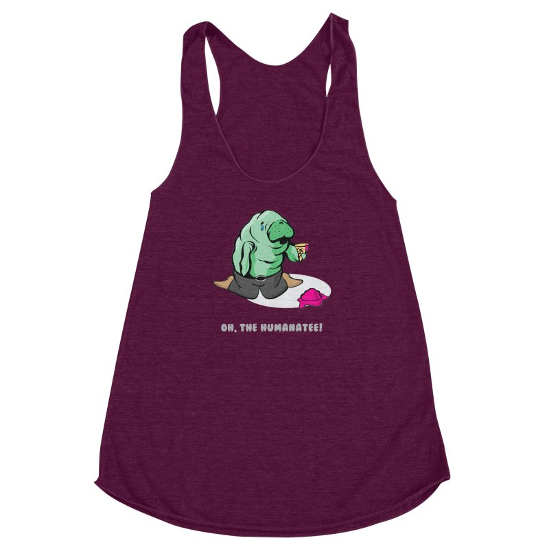 The Humanatee Women's Racerback Triblend Tank by andrewedwards's Artist Shop