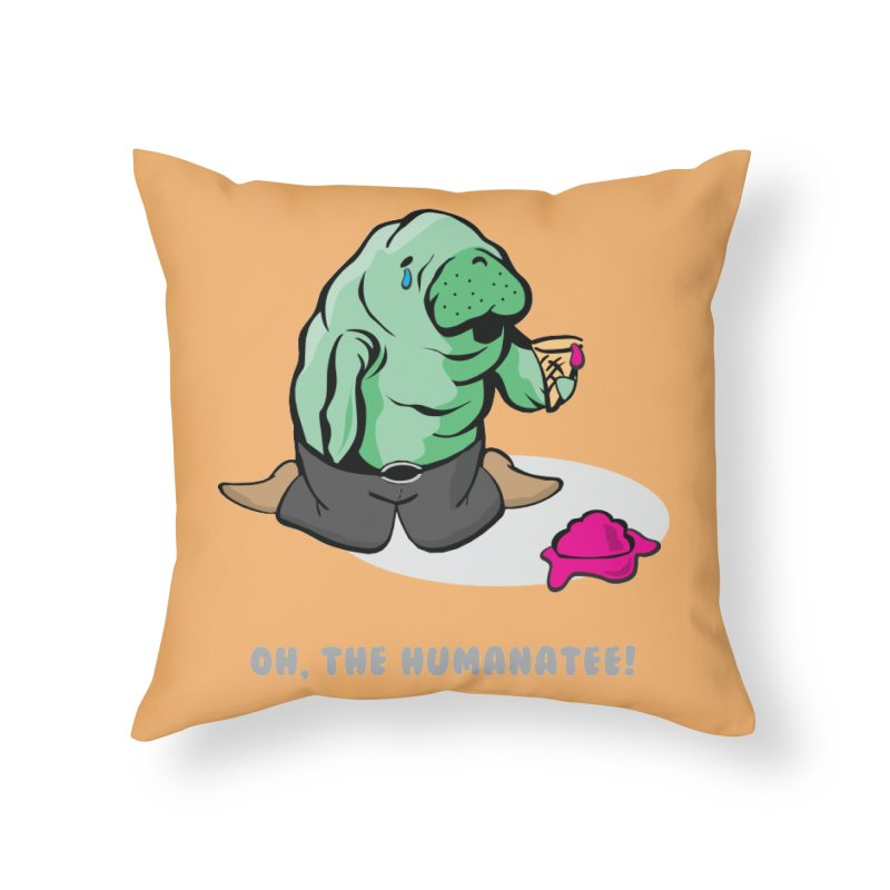 The Humanatee Home Throw Pillow by andrewedwards's Artist Shop