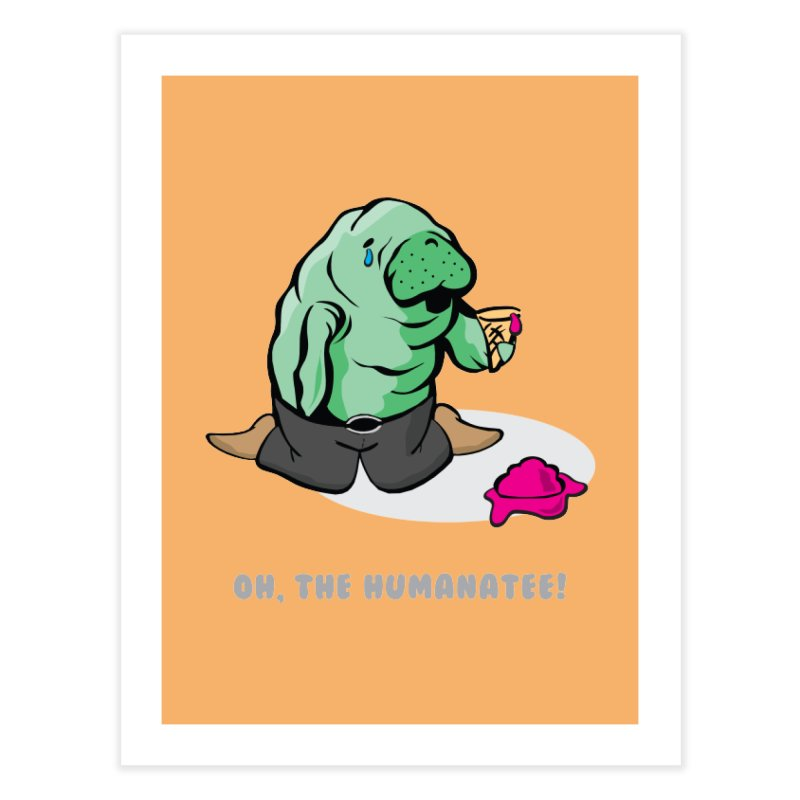 The Humanatee Home Fine Art Print by andrewedwards's Artist Shop