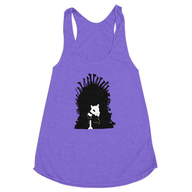 Game of Bones Women's Racerback Triblend Tank by Andrew's Fantastic World Shop