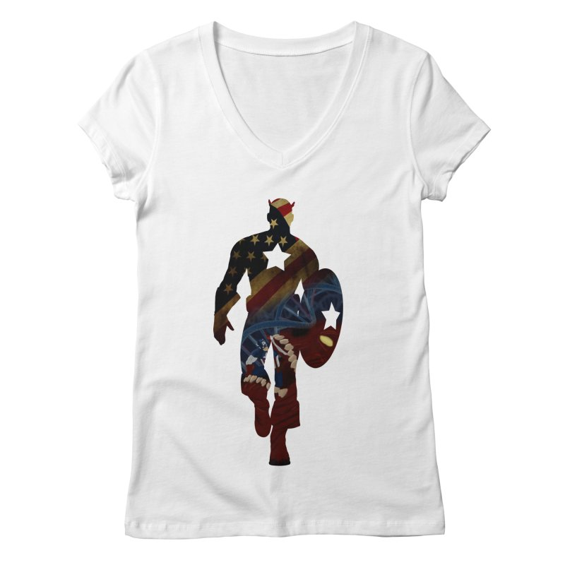 Son of Freedom Women's V-Neck by Andrew's Fantastic World Shop