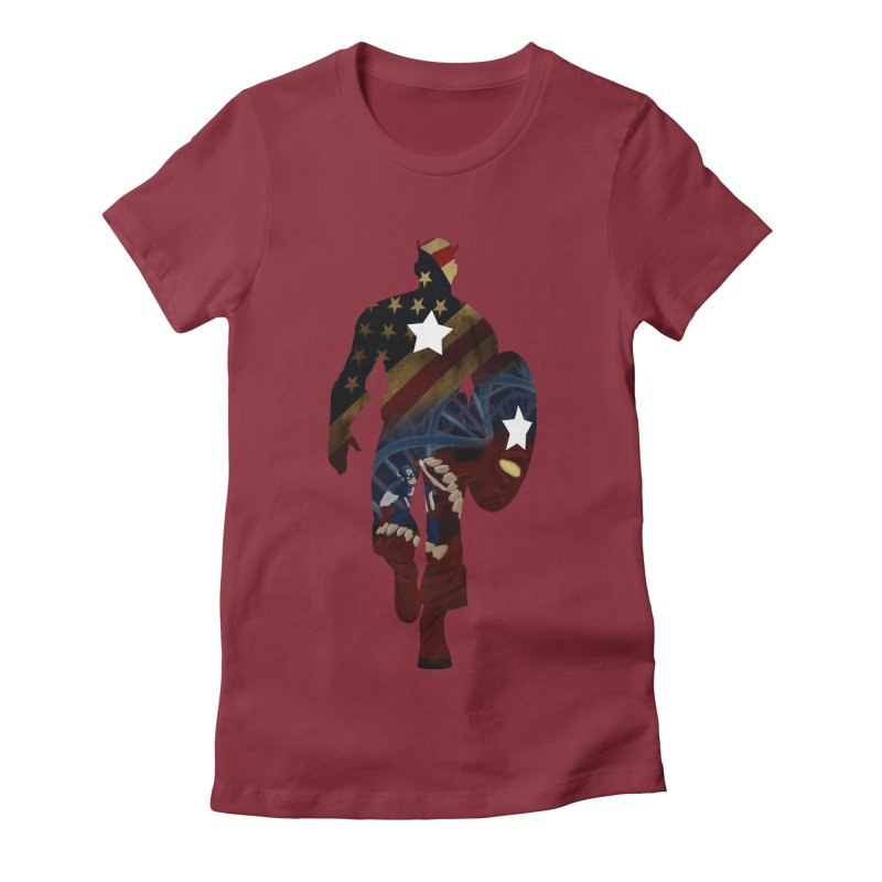 Son of Freedom Women's Fitted T-Shirt by Andrew's Fantastic World Shop