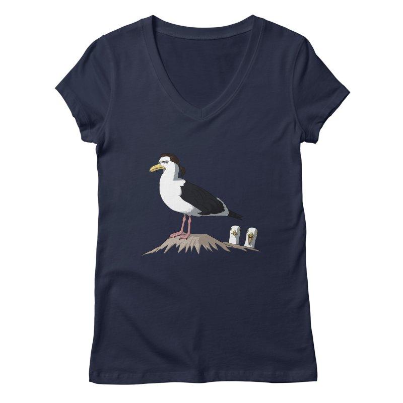 I am Steven Seagull Women's V-Neck by Andrew's Fantastic World Shop