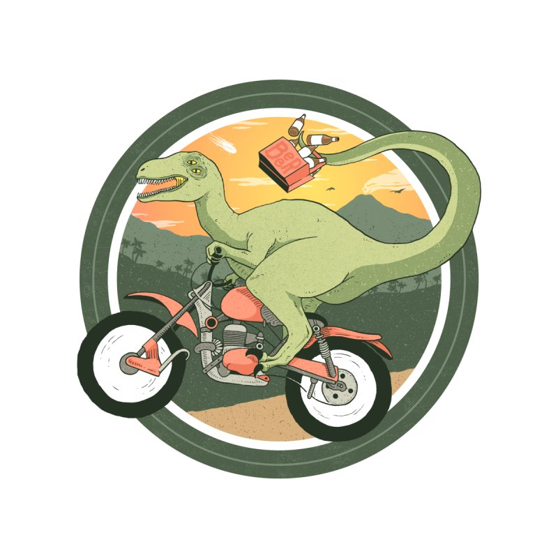 Raptor Rider Men's T-Shirt by Andrew Haines Art