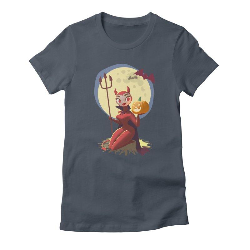Doris Devil Women's T-Shirt by Andrew Hickinbottom's Artist Shop